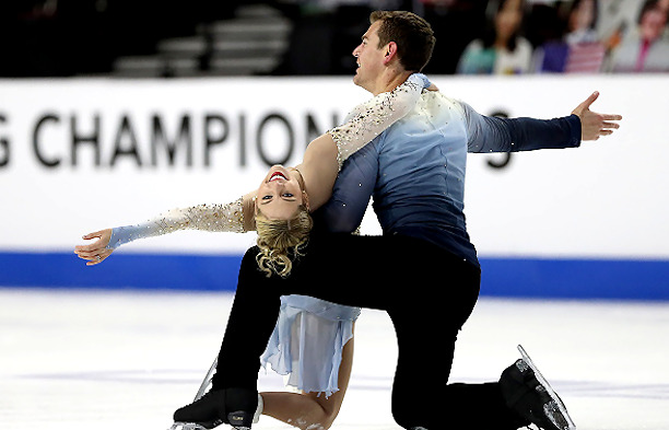Alexa Knierim and Brandon Frazier